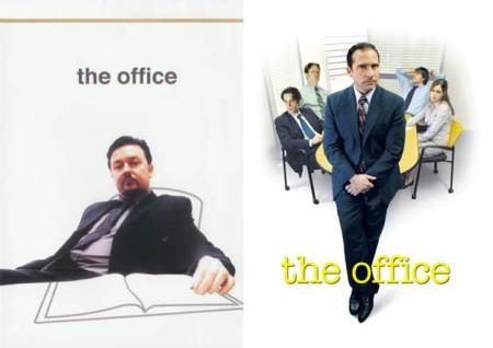 Ricky Gervais The Office & Steve Carell The Office